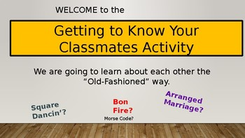 First Day of School Group Activity: Getting to Know Your N