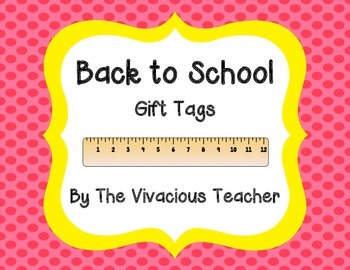 """Back to School Gift Tags (""""YOU RULE!"""")"""