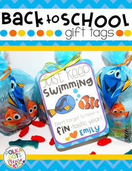 Back to School Gift Tags with Fish