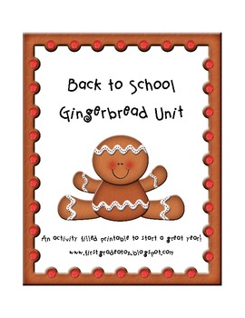 Back to School Gingerbread hunt theme