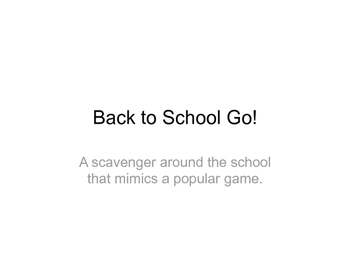 Back to School Go