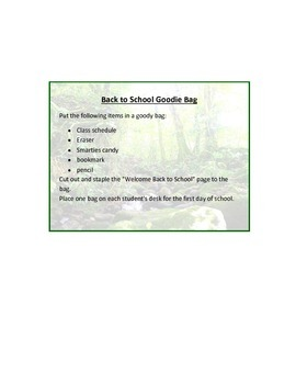 Back to School Goodie Bag