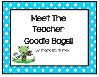 Back to School Goodie Bag-Frog theme