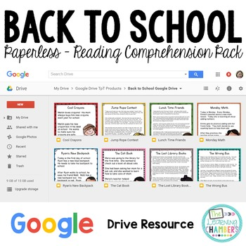 Back to School - Google Drive Close Reads