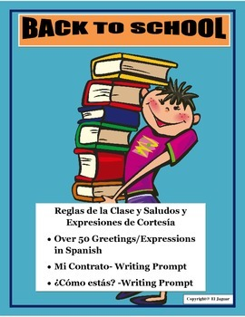 Back to School-Greetings & Class Rules in Spanish- Ice Bre