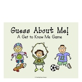 """Back to School """"Guess About Me"""" Classroom Game Activity"""
