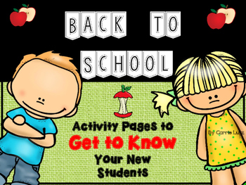 Back to School ~ Hello!  Who are You? Getting to Know Your