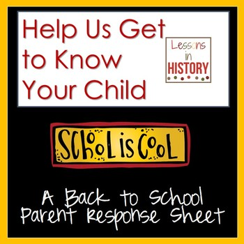 Back to School - Help Us Learn About Your Child - Parent R