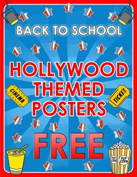 Back to School - Hollywood Themed Posters - FREE