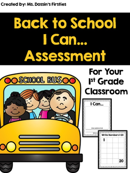 Back to School I Can Quick Assessments