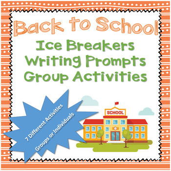Back to School Ice Breakers; Partner Interviews,Writing Pr