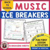 Back to School Ice Breakers for Music Classes