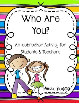 Back to School Icebreaker Activity - Who Are You? {FREE}