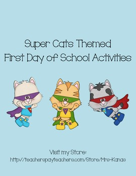 Back to School Icebreakers - Super Cat Themed - First Day