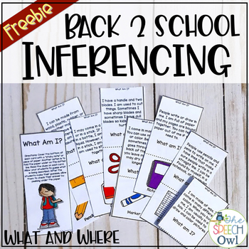 Back to School Inferencing (school supplies and locations)