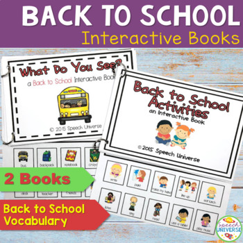 Back to School Interactive Books