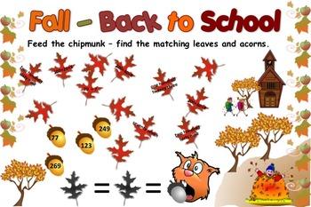 Back to School Interactive Bulletin Board - Math