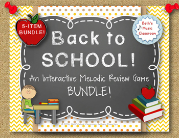 Back to School! Interactive Melodic/Solfa Game - 5-ITEM BU