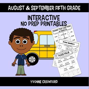 Back to School Interactive No Prep Printables - Fifth Grade