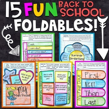 Back to School Interactive Notebook: 15 Fun Foldables