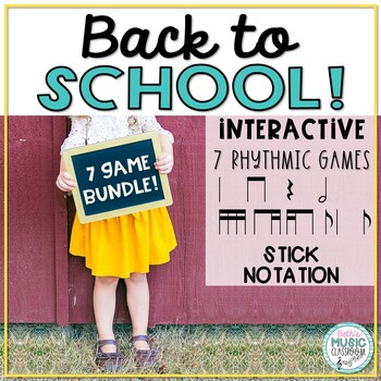 Back to School! Interactive Rhythmic Game - 6-ITEM BUNDLE