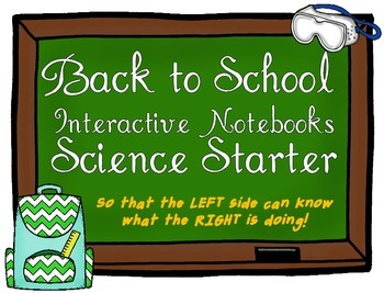 Back to School Interactive Science Notebook Starter Kit