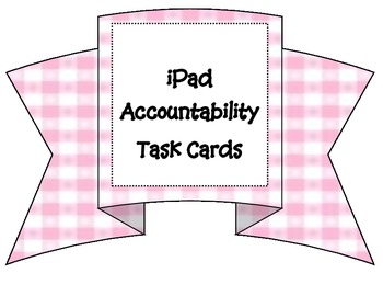 iPad or tablet task cards.