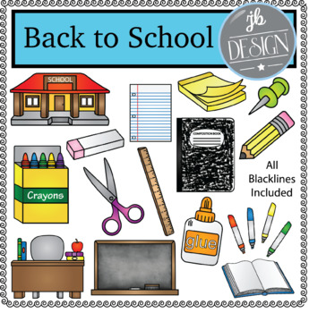 Back to School (JB Design Clip Art for Personal or Commerc