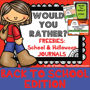 Back to School ~ Journal Writing ~ WOULD YOU RATHER ~ FREE