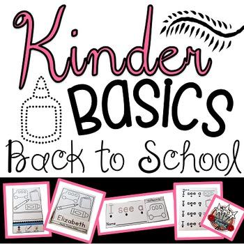 Back to School Kindergarten Activities:  Kindergarten Prin
