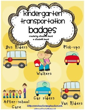 Back to School Kindergarten Bus Badges, Pick up Badges, Wa