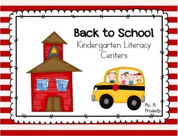 Back to School Kindergarten Literacy Centers