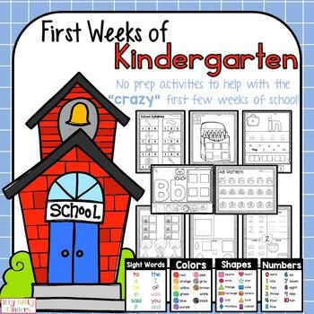 Back to School Kindergarten Packet