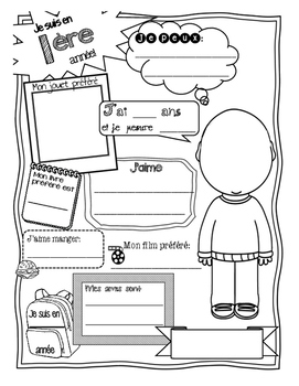 Back to School - LA RENTRÉE activity