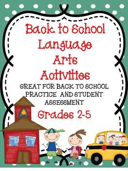 Back to School - Language Arts Activities