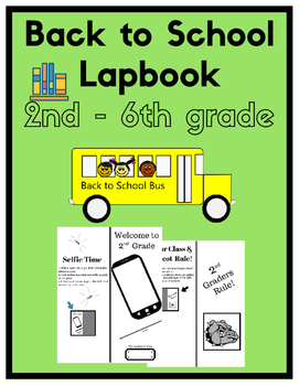 Back to School -  Me & My School Lapbook (Lap Book) - B/W