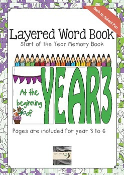 Back to School Layered Word Book - Year 3 to 6