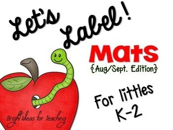 Back to School: Let's Label Mats {Aug/Sept}