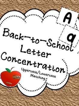 Back to School Letter Concentration