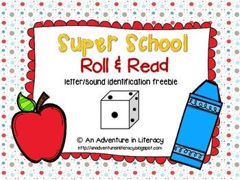 Back to School Letter Identification Roll & Read