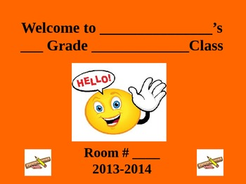 Back to School Night Letter Template and PowerPoint