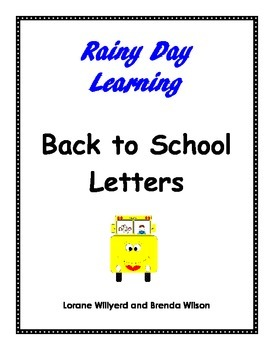 Back to School Letters
