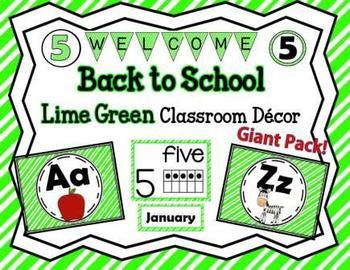 Classroom Lime Green Décor