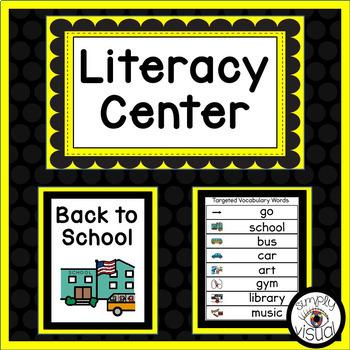 Back to School Literacy Center
