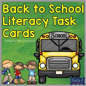 Back to School Literacy Task Cards