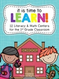 Back to School Literacy and Math Centers: It's Time to Learn