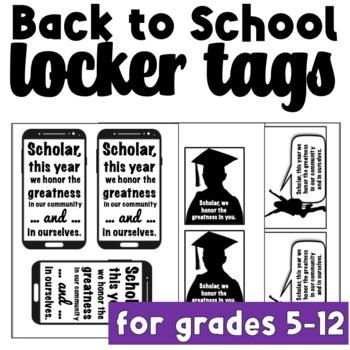 Back to School Locker Tags: Brag Tags for Teens & Tweens