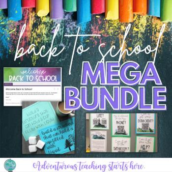 Back to School MEGA BUNDLE - All Google Classroom Compatible!