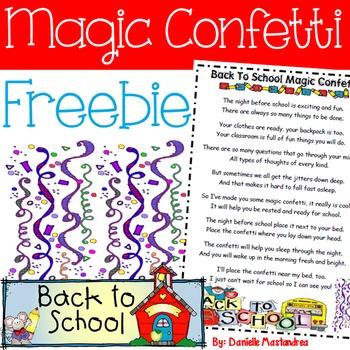 Back to School Magic Confetti FREEBIE