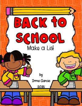 Back to School - Make a List